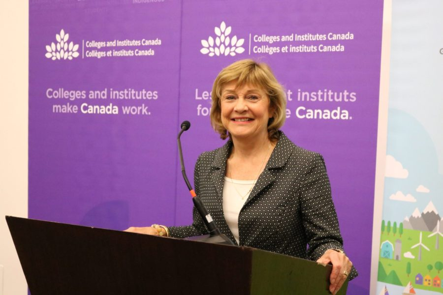 Senator Bellemare at the Colleges and Institutes Canada event on October 3, 2017