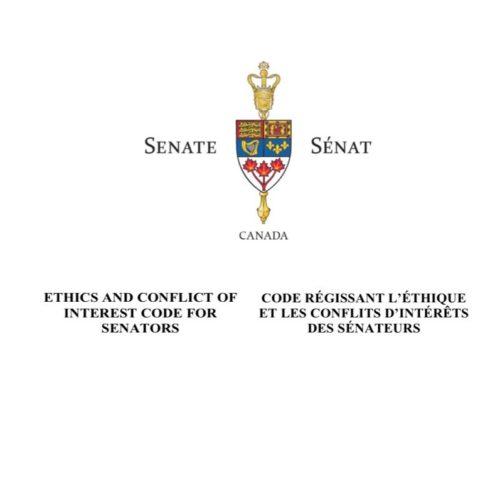 Nouveau code d'éthique du Sénat